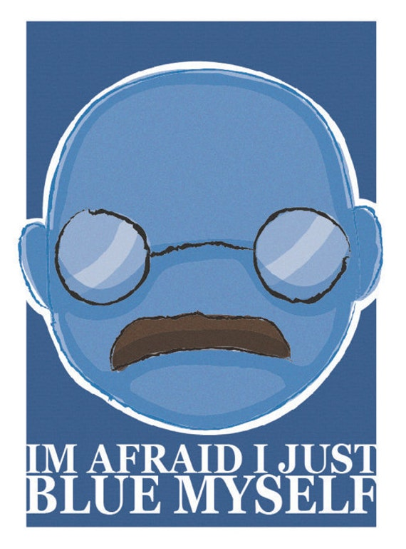 Arrested Development, Tobias - Im afraid i just blue myself, Giclee print (A4 8x11)