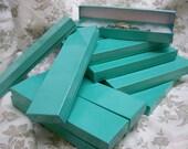 Teal Blue Boxes - 20-count Cotton Filled Bracelet Boxes