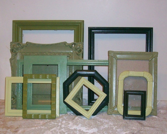 12 Shades of Green Picture Frames