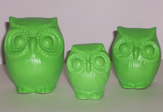 3 Apple Tart Green Owls