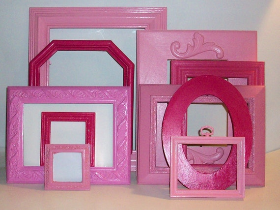 10 Shades of Pink Picture Frames