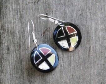 Lakota Medicine Wheel Earrings