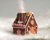 Gingerbread House with Cotton Candy from the Chimney