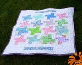 Baby girl whirly gig quilt