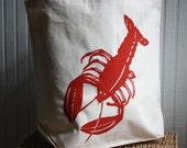 Tote Bag with Red Lobster Image