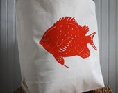 Tote Bag with Fish Image