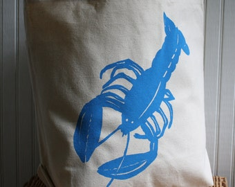 Tote Bag with Lobster Image