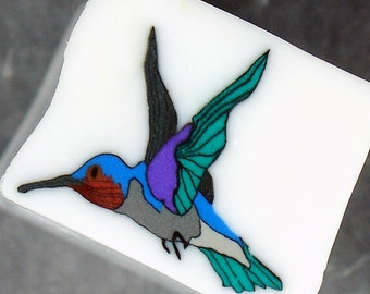 Handmade Hummingbird Polymer Clay Cane, Polymer Clay, Cane, Canes, Nail Art, Jewelry, FIMO