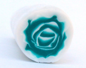 Emerald Rose Polymer Clay Cane, Flower Cane, Polymer Clay, Cane, Canes, Unbaked Cane