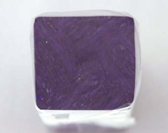 Polymer Clay Starry Night Tile Purple 71b