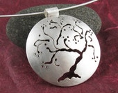 PENDANT ONLY: Sterling Silver Cherry Tree Pendant, Handmade