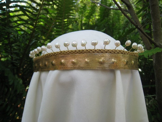 Pearl Queen Guinevere Circlet Headpiece Crown- Featured on Free People