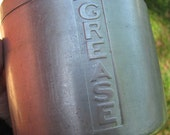 Antique 50s Metal Grease Bucket. For Real.