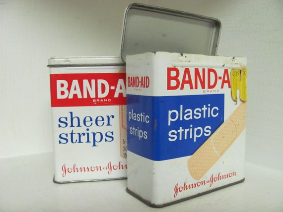 Vintage Band-Aid Metal Boxes. 2.
