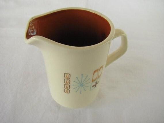 Antique Ceramic Taylorstone Cathay Cream Pitcher. Lightweight. Ultra Cool Motif.