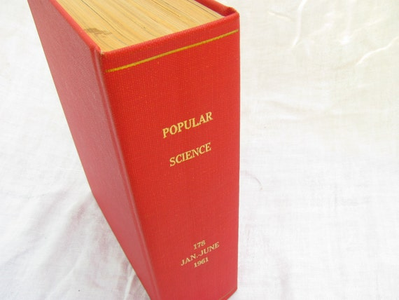 Vintage Antique 1961 Hard Bound Popular Science Compilation.