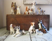 porcelain dog collection set of 12 assorted breeds napco norleans brinns poodle cocker spaniel shepard cheaper by the dozen