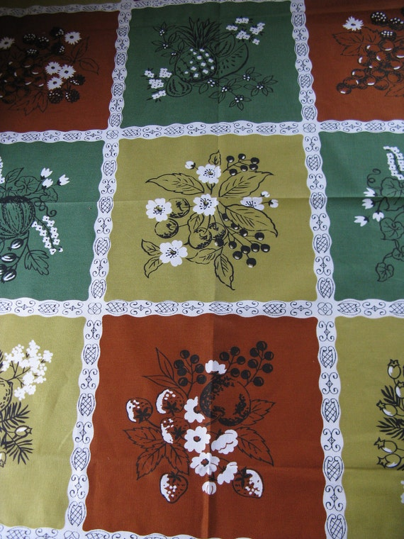 wilendure autumn tablecloth  spanish tile  45 inch square original tags and package florals and fruit