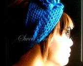 Beautiful crocheted earwarmer headband with flower