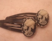 Gothic Goddess Cameo hairclips Part of My Gothic Lolita COLLECTION AN EXCLUSIVE Simplycamo DESIGN
