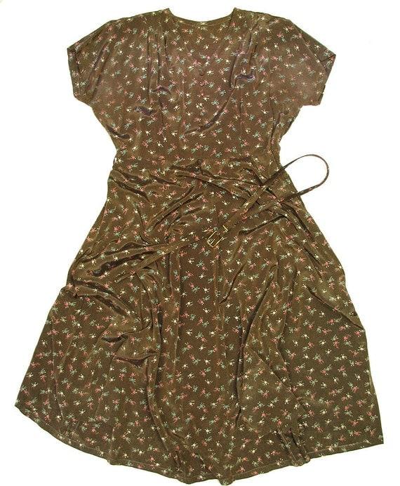 40s 50s atomic print plus size dress xxl xl 46 bust 36 waist