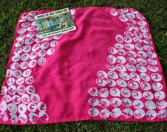 Girl's Hot Pink Batik Linen Beach Towel