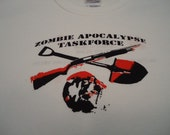 Zombie Apocalypse Taskforce White Black and Red Youth Lrg