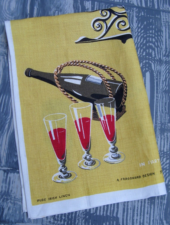 Pure Irish Linen Vintage Tea Towel