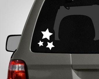 Stars Vinyl Decal - Starry Night Decal - Star Stickers - Vinyl Car Decal BAS-0193