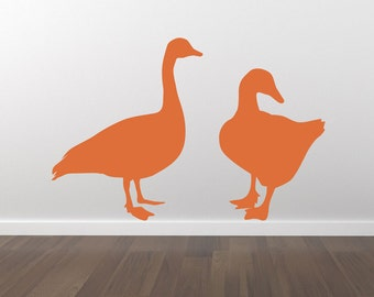 Ducks Decal - Ducks Sticker - Removable Wall Decal - Matte Vinyl Ducks Wall Decal Pack WAL-A115