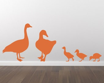 Ducks Ducklings Decal Wall Decal Stickers - Removable Wall Decal - Matte Vinyl Wall Decal Pack WAL-A116