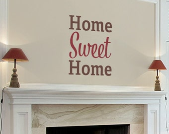 Home Sweet Home Family Quote Wall Decal - WAL-2132