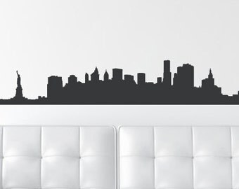 New York, New York Skyline Wall Decal WAL-A131