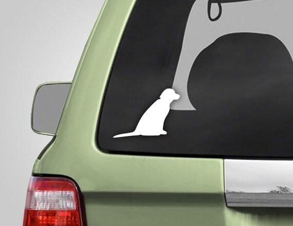 Dog Decal - Dog Sticker - Labrador Sticker - Labrador Decal - Vinyl Car Decal Vinyl Decal - BAS-0132