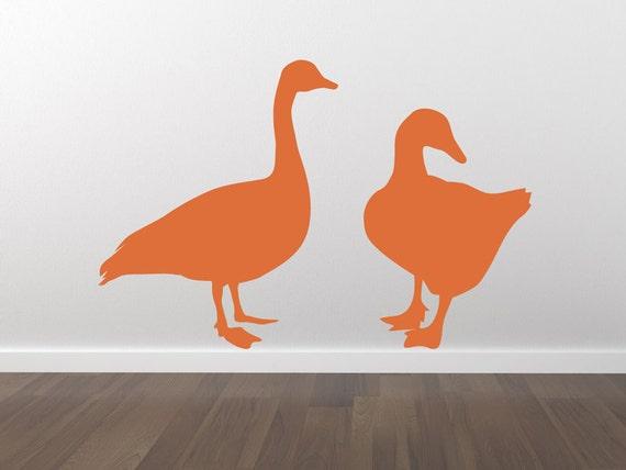 Ducks Decal - Ducks Sticker - Removable Wall Decal - Matte Vinyl Ducks Wall Decal Pack WAL-A115