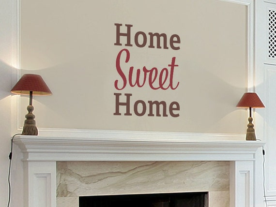 Home sweet home family quote wall decal wal 2132 for Home sweet home quotes