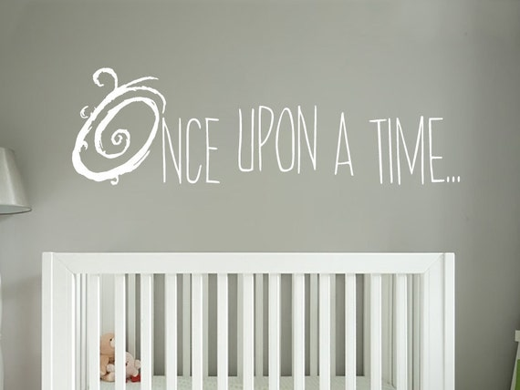 Once Upon A Time Wall Decal Storybook Nursery Decor Vinyl