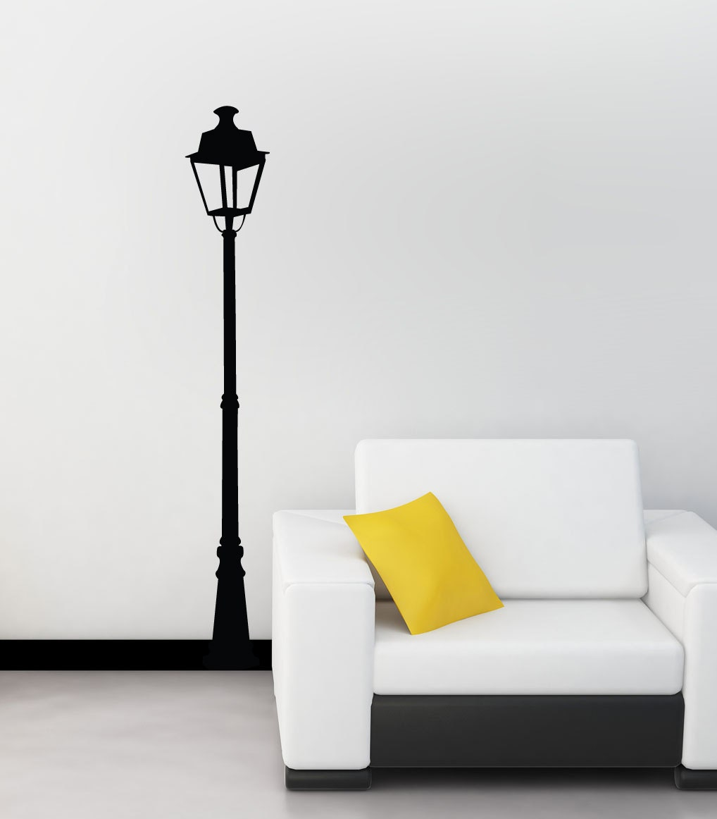 Wall Gas Lamps : Street Lamp Wall Decal Gas Lamp Wall Sticker Old Fashioned