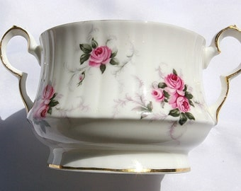 Sugar and Creamer White Rose  Set By Princess House Mothers Day Tea