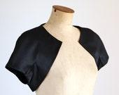 Vintage Black Bolero Caplet Jacket