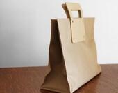 Vintage 1980's Beige Square Bag