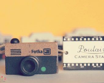 Vintage Camera Rubber Stamp FOTKA