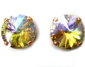 LAST PAIR Special Effects Color Changing Swarovski Earrings Custom Limited Edition