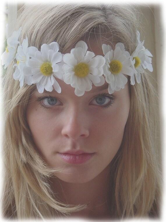 Daisy Chain Headband Hair Band Handmade Hair Peace Bohohemian