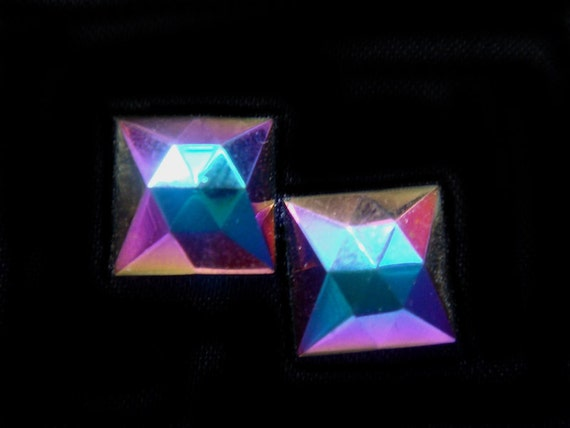 Geometric Metallic Rainbow Earrings