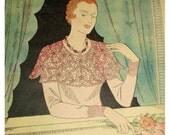 Vintage 1930s French Art Deco Needlecraft / Craft Magazine with Patterns, Mon Ouvrage