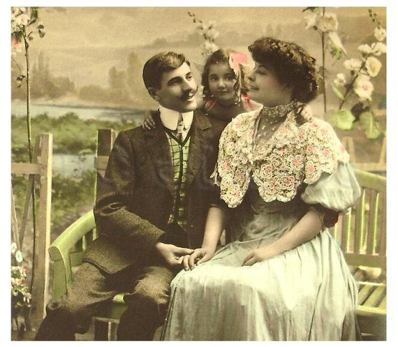RESERVED FOR ELLEN - Romantic French Postcard - The Secrets of Love...