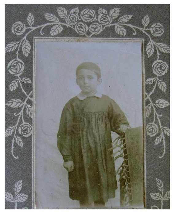 French Antique School Photo - Young Boy Called Louis