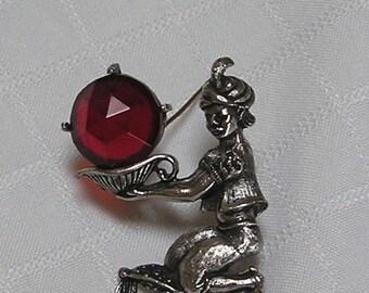 Jewelarama Genie Fortune teller pin