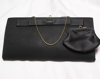 Vintage Peck and Peck New York Satin Evening Clutch or Hand bag Purse